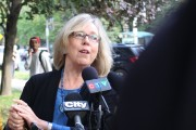 "Elizabeth May: ""The oil sands are about two per cent of GDP."""