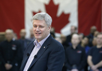 "Stephen Harper: ""For the first time in history, this country actually has GHG emissions that have been falling."""