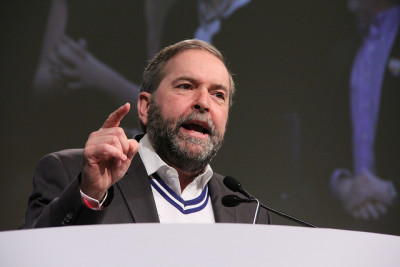 "Tom Mulcair: ""Stephen Harper is the only prime minister in Canadian history who, when asked about the recession during his mandate, gets to say, 'Which one?'"""