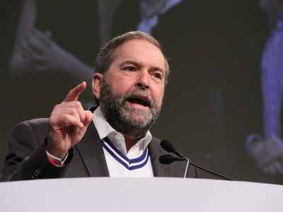"Tom Mulcair: ""Canada is the only country in the world to have withdrawn from the Kyoto Protocol."""