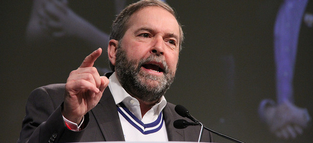 "Tom Mulcair: ""We have aircraft strafing"" in Iraq"