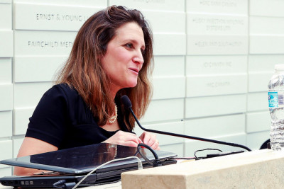 "Chrystia Freeland: In early 2015, Canada's ""economy is not performing well compared to the rest of the world."""