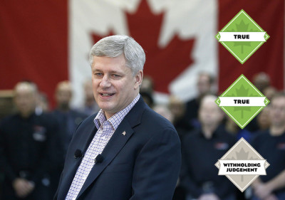 "Stephen Harper: ""We have seen since the great global financial crisis, Canada has the strongest economic growth, the strongest job creation record and the strongest income growth for the middle class among any of the major developed economies."""