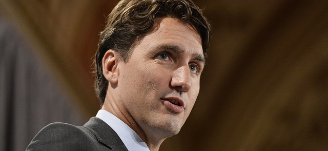 "Justin Trudeau: ""We made a clear commitment in the campaign to stop the bombing mission [in Iraq] by Canadian jets."""