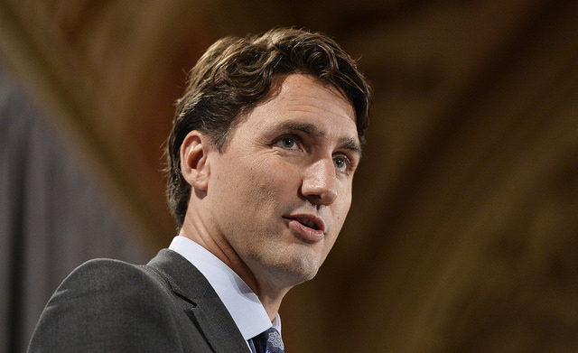 "Justin Trudeau: Tom Mulcair ""changed his mind, and he wants us to use our majority to ram through electoral change."""