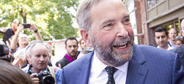 """Tom Mulcair: """"We learned with the tragic death of Sgt. Andrew Doiron that [Canadian troops] were indeed on the front line"""" in Iraq"""