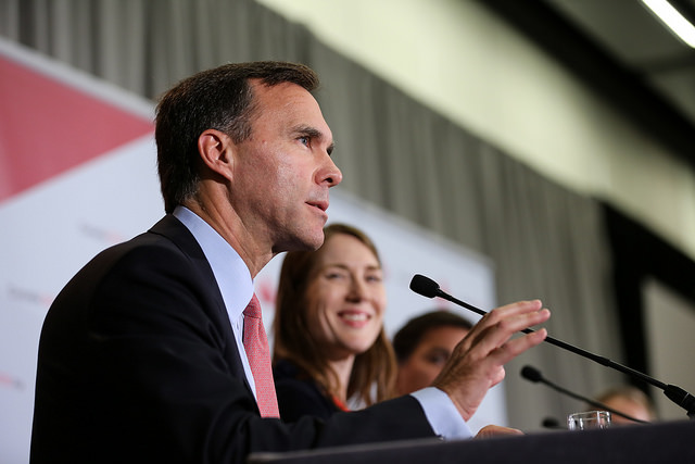 "Bill Morneau: ""Taxes were lowered for middle-class Canadians."""